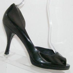 Via Spiga black patent leather d'orsay heels 9M
